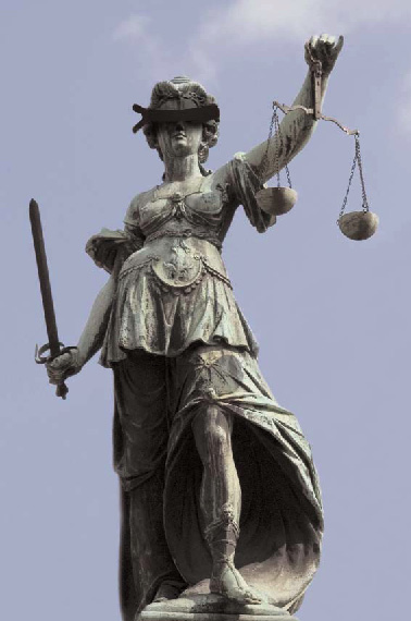 justitia in voller Pracht