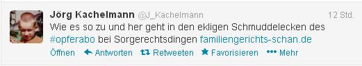 Auch Jörg Kachelmann - ein Justiz-Opfer der Mannheimer Polizei und Justiz befürwortet die Aktivitäten von Familiengericht-Schan.de