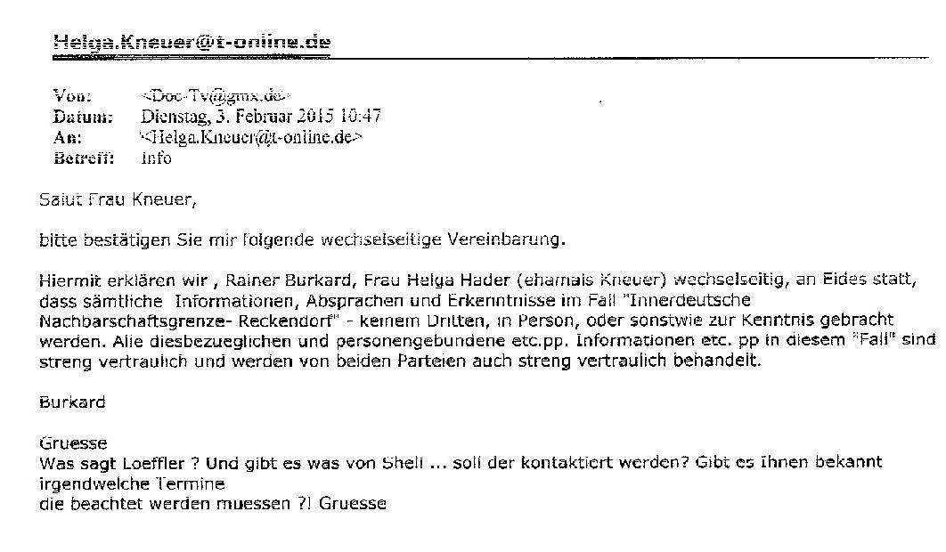Burkard an Kneuer: