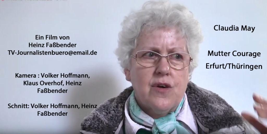 SCHURKENSTAAT gegen Erfurter SED-Opfer Claudia May