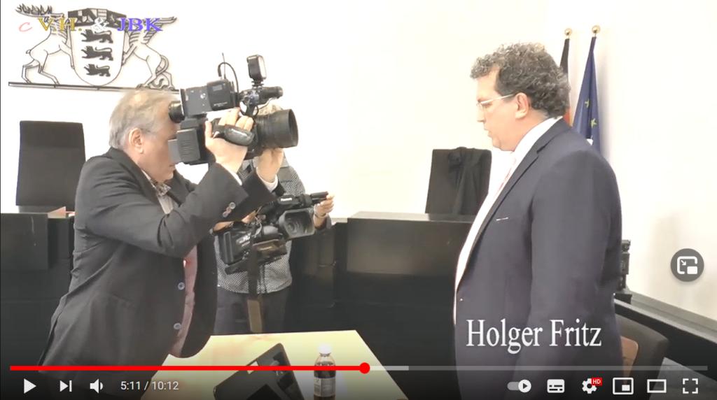 Holger Fritz im Scheinwerferlicht